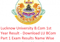 Lucknow University B.Com 1st Year Result 2019 - Download LU BCom Part 1 Exam Results
