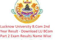 Lucknow University B.Com 2nd Year Result 2019 - Download LU BCom Part 2 Exam Results