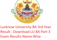 Lucknow University BA 3rd Year Result 2019 - Download LU ba Part 3 Exam Results