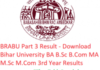 BRABU Part 3 Result 2019 - Download 3rd Year BA B.Sc B.Com MA M.Sc M.Com Results Bihar University
