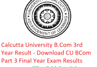 Calcutta University B.Com 3rd Year Result 2019 - Download CU BCom Part 3 Exam Results