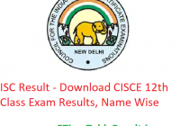 ISC Result 2019 - Download CISCE 12th Class Exam Results, Name Wise