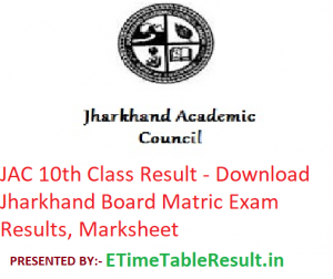 JAC 10th Class Result 2019 - Download Jharkhand Board Matric Exam Results, Marksheet