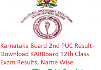 Karnataka Board 2nd PUC Result 2019 - Download KARBoard 12th Class Exam Results, Name Wise