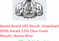 Kerala Board HSE Result 2019 - Download DHSE Kerala 12th Class Exam Results, Name Wise