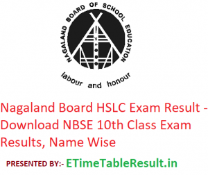 Nagaland Board HSLC Result 2019 - Download NBSE Class 10 Exam Results, Name Wise