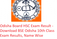 Odisha Board HSC Result 2019 - Download BSE Odisha 10th Class Exam Results, Name Wise
