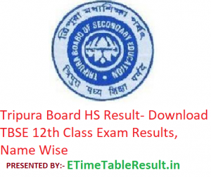 Tripura Board HS Result 2019 - Download TBSE 12th Class Exam Results, Name Wise