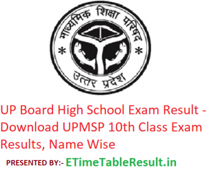 UP Board High School Result 2019 - Download UPMSP 10th Class Exam Results, Name Wise