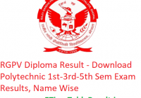 RGPV Diploma Result 2018-19 - Download Polytechnic 1st-3rd-5th Sem Results, Name Wise