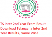 TS Inter 2nd Year Result 2019 - Download Telangana Board Intermediate Second Year Exam Results, Name Wise