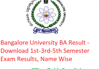 Bangalore University BA Result 2019 - Download 1st-3rd-5th Semester Exam Results, Name Wise