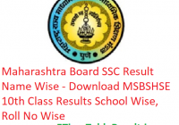 Maharashtra Board SSC Result 2019 - Download MSBSHSE 10th Class Exam Results School Wise, Roll No Wise