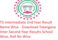 TS Intermediate 2nd Year Result 2019 Name Wise - Download Telangana Inter Second Year Results School Wise, Roll No Wise