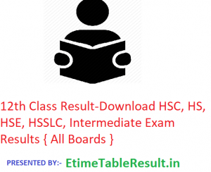 12th Class Result 2019 - Download HSC/HSE/HS/HSSLC/Intermediate Exam Results, All Boards