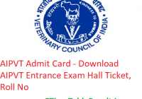 AIPVT Admit Card 2019 - Download AIPVT Entrance Exam Hall Ticket, Roll No