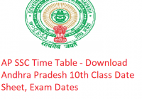 AP SSC Time Table 2020 - Download Andhra Pradesh 10th Class Date Sheet, Exam Dates