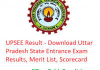 UPSEE Result 2019 - Download Uttar Pradesh State Entrance Exam Results, Scorecard, Merit List