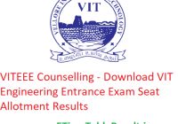 VITEEE Counselling 2019 - Download VIT Engineering Entrance Exam Seat Allotment Results