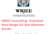 WBJEE Counselling 2019 - Download West Bengal JEE Seat Allotment Results
