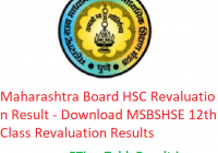 Maharashtra Board HSC Revaluation Result 2019 - Download MSBSHSE 12th Class Revaluation/ Retotalling Results