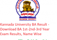 Kannada University BA Result 2020 - Download BA 1st-2nd-3rd Year Exam Results, Name Wise