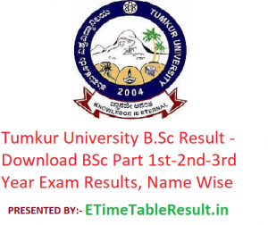 Tumkur University B.Sc Result 2020 - Download BSc Part 1st-2nd-3rd Year Exam Results, Name Wise