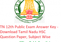 TN 12th Public Exam Answer Key 2020 - Download Tamil Nadu HSC Question Paper, Subject Wise