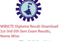WBSCTE Diploma Result 2020 - Download 1st-3rd-5th Sem Exam Results, Name Wise
